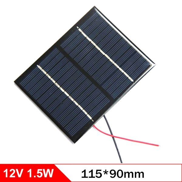 12v 1 5w 115 90mm Micro Mini Power Small Polycrystalline Solar Cell Panel Module For Diy Solar Phone Charger Flas Solar Phone Chargers Modern Gadgets Diy Solar