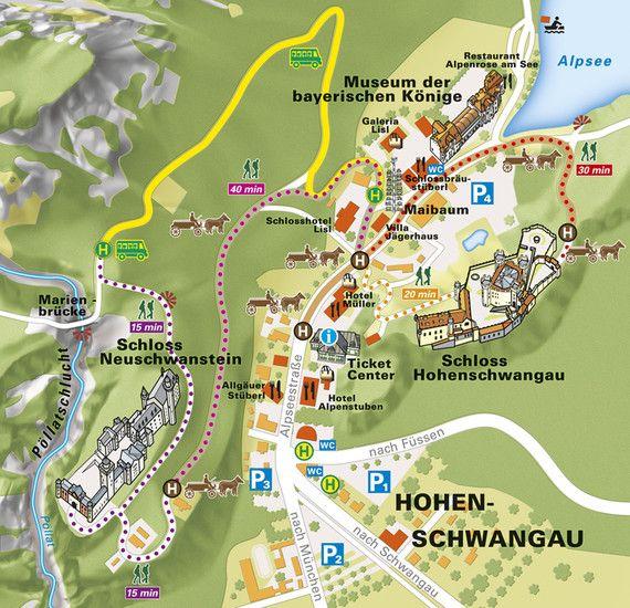 Neuschwanstein Hotels & Events: Local Map
