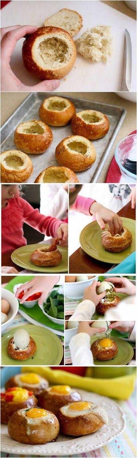 Fill the muffin baked with an egg Panecillo al horno relleno con un huevo Subido de Pinterest. http://www.isladelecturas.es/index.php/noticias/libros/835-las-aventuras-de-indiana-juana-de-jaime-fuster A la venta en AMAZON. Feliz lectura.