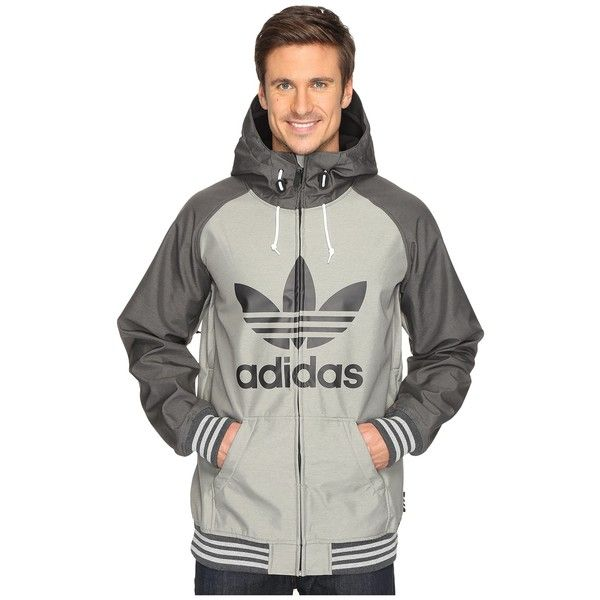 adidas Skateboarding Greeley Soft Shell Jacket (Core Heather/Black... (€160) ❤ liked on Polyvore featuring men's fashion, men's clothing, men's activewear, men's activewear jackets and mens activewear