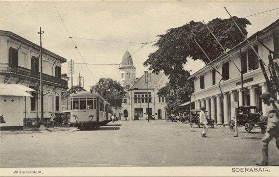 Willemsplein in Soerabaia 1920-1940.