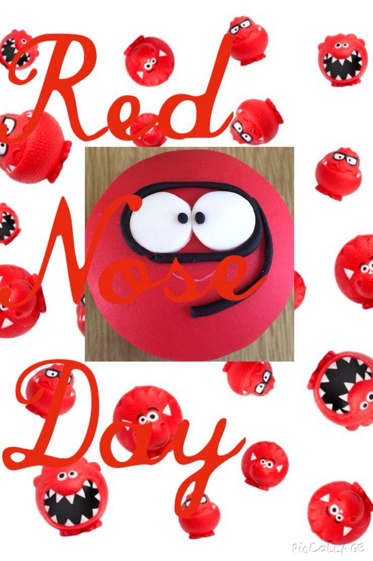 Red Nose Day cupcake