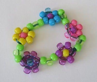 Daisy Bracelet for Children to make using Standard Pony Beads