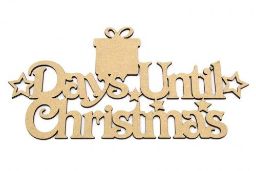 3mm Days until Christmas blank plaque. http://www.lornajayne.co.uk/
