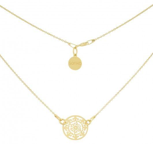 Złoty minimalistyczny naszyjnik arabska rozeta