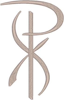 Chi Rho #9 Embroidery Design