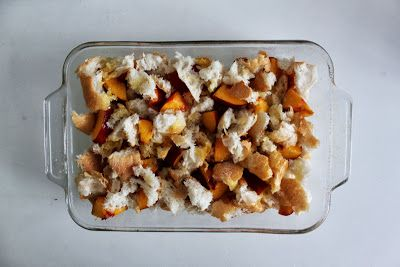Lately: Recipe: Peach bread pudding - Broodpudding met perzik (of nectarine)
