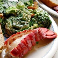 Lobster Tails Steamed in Ale
