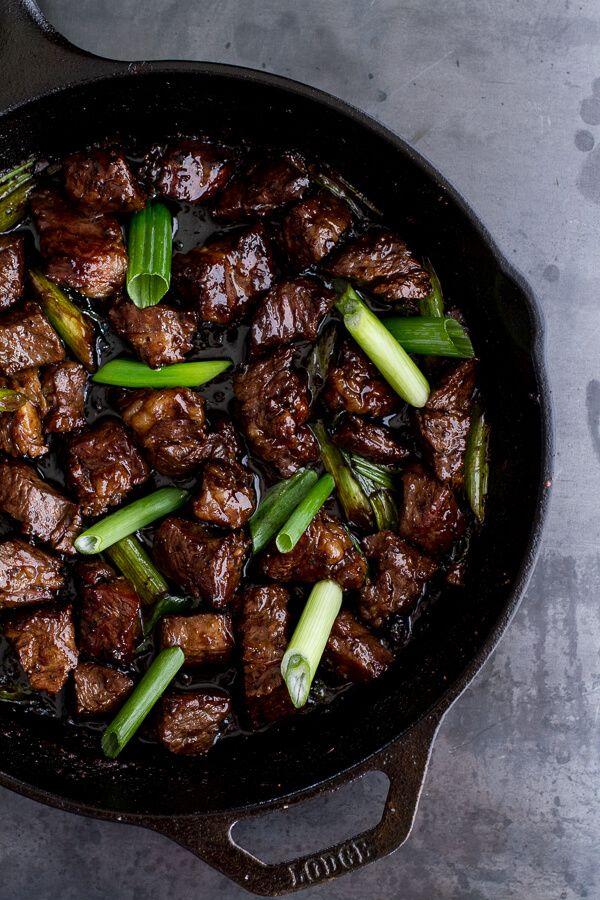 Vietnamese Shaken Beef Bowl with Hoisin Sauce   halfbakedharvest.com