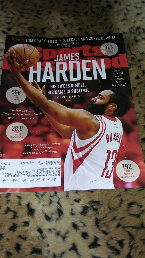 JAMES HARDEN FEAR THE BEARD TOM BRADY SUPER BOWL SPORTS ILLUSTRATED MARCH 2017 | Books, Magazine Back Issues | eBay!