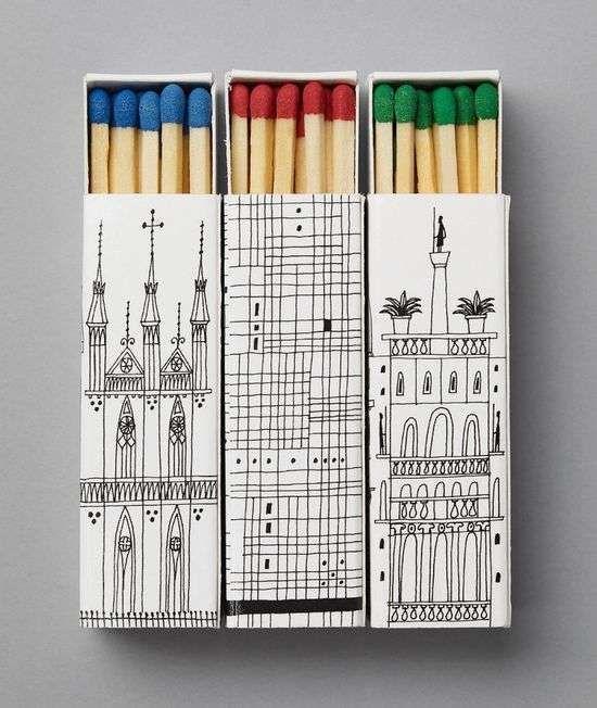 Matchbook Cities - Illustrated Architectural Landmark Matchboxes Boîtes d'allumettes - Villes