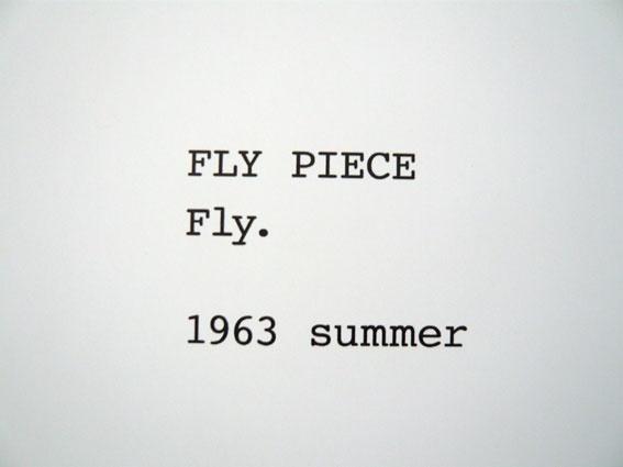 yoko ono, fly piece  the grapefruit book, 1963