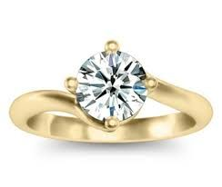 solitaire diamond ring gold - Google Search