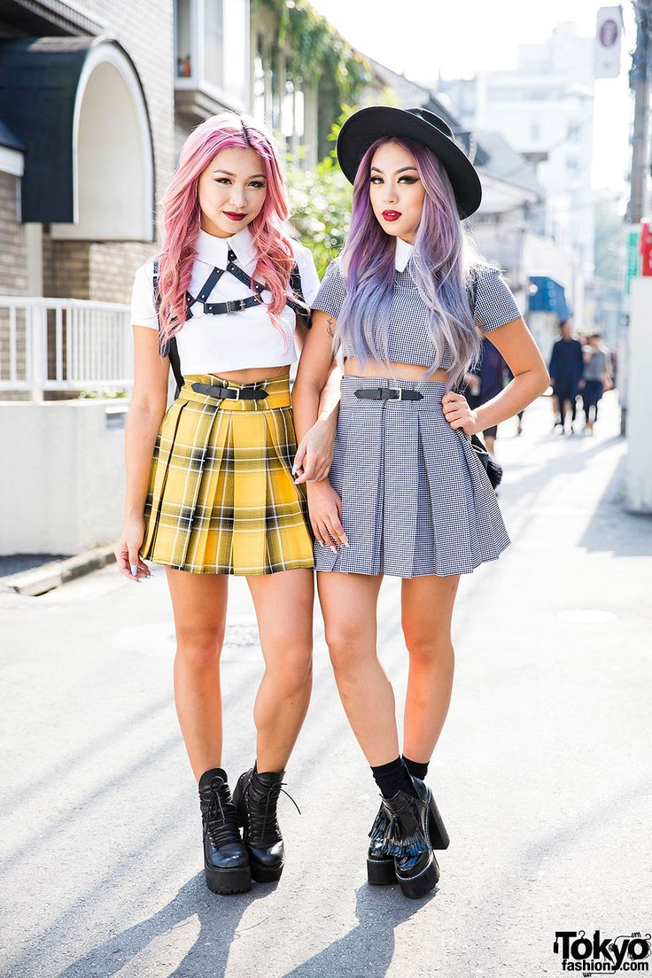 Style Bloggers Francis Lola & Ellen V Lora in Harajuku w/ Deandri & Skinny-dip London // I LOVE the Yellow skirt