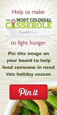 Campbell spendet die Kosten für 1 Portion bis zum 30. November 2012 an Feeding America (bis zu 10.000 US-Dollar).