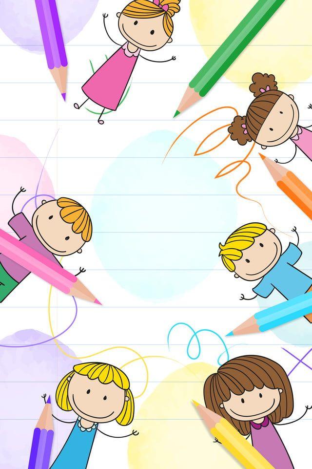 Educacion Infantil Fondos Para Ninos Caricaturas De Ninos Ninos Dibujos Animados