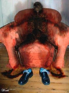 Spontaneous human combustion -   Many hypotheses attempt explanations for the various cases of human spontaneous combustion. These generally fall into three groups:       -Paranormal explanations (e.g., a ghost or divine intervention)     -Natural explanations based on an unknown and otherwise unobserved phenomenon  I once read that the acid from the stomach and chemicals from the intestines would react when met and the human being would explode...not sure though