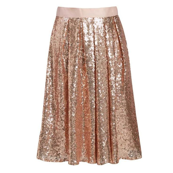 Lady Sequins Skirt (5 Colors)