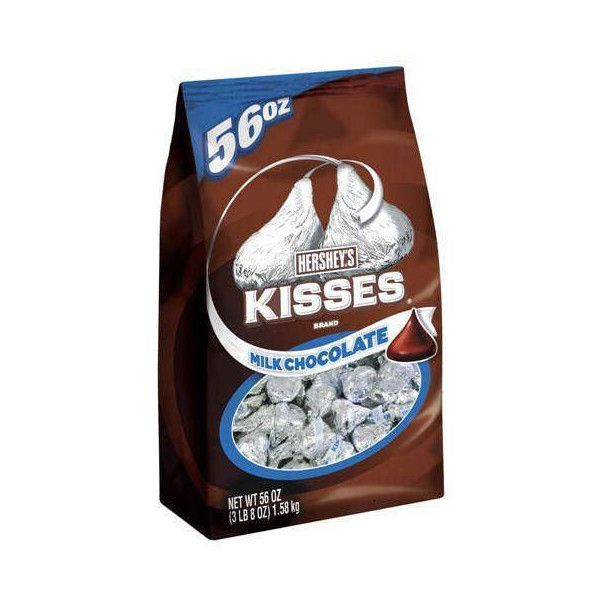 Hershey Chocolate Kisses Bulk Bag 56 oz - Sugar Stand ($21) ❤ liked on Polyvore featuring food, food and drink and food & drinks