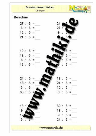 Division mit 3 - ©2011-2016, www.mathiki.de - Ihre Matheseite im Internet #math #division #arbeitsblatt #worksheet