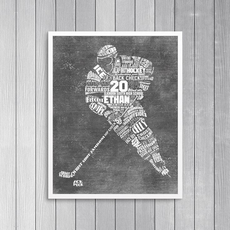 Personalized HOCKEY Word Art - Add Player's Name Number & Team Name Hockey Gift or Hockey Coach's Gift Printable or Printed and Shipped! by ShaunaSmithDesigns on Etsy https://www.etsy.com/listing/287522321/personalized-hockey-word-art-add-players