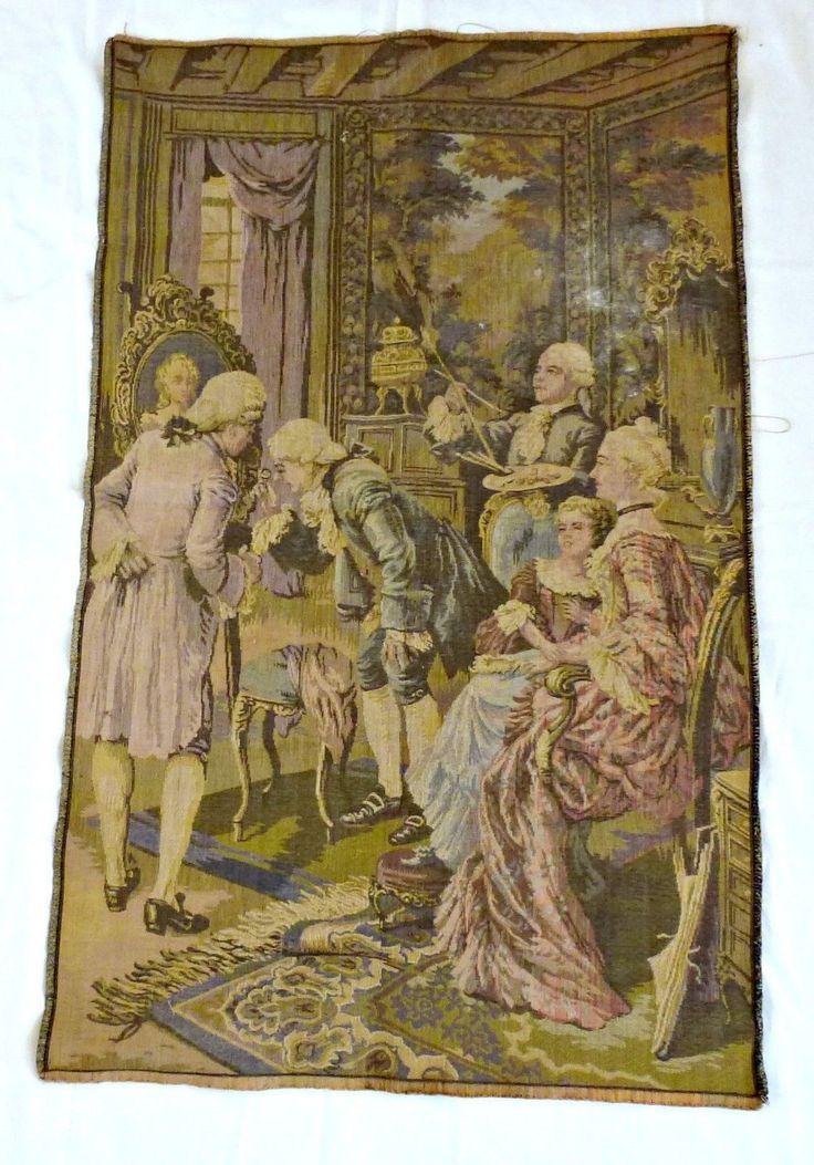 Французский гобелен-салон сцены-винтаж | eBay