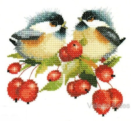 Heritage Valerie Pfeiffer Counted Cross Stitch Chart ~ BERRY CHICK CHAT