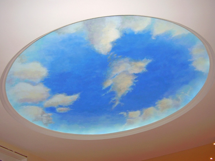 26 best images about cloud ceilings on pinterest for Ceiling cloud mural