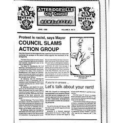 Rare & Original, Apartheid Era Atteridgeville City Council Newsletter. Bid per Item
