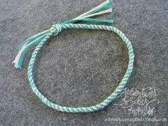 How to make a Kumihimo Braided Bracelet {or Anklet}