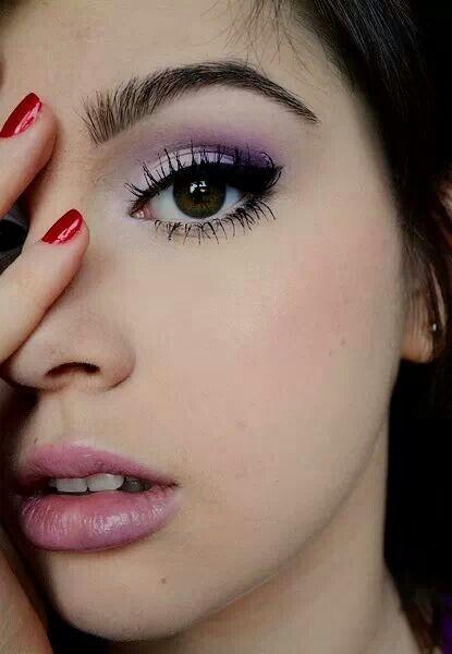 Purple winged eye. Makeup for Brown eyes.                                                                                                                                                                                 More