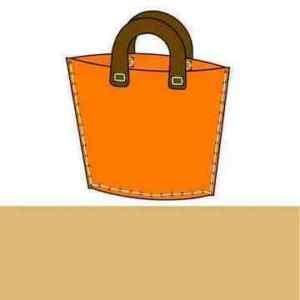 FELT BAG MAKING SEWING CRAFT KIT BEIGE 39cmx31cm - 4