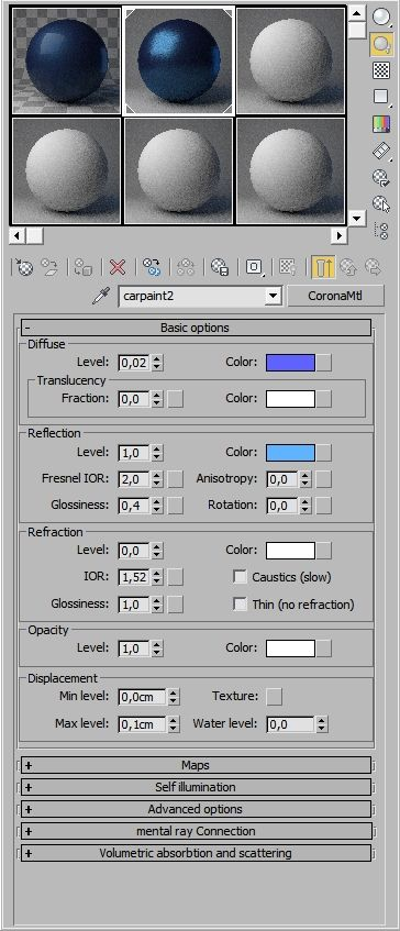 How to create carpaint shader in Corona? : Corona Renderer Helpdesk