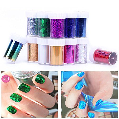 Hrhyme 2015 Newest Fashion 12 Rolls Mix Colors Nail Art Transfer Foil Set Nail Tip Decoration(12 Colors) >>> Check this awesome product by going to the link at the image.