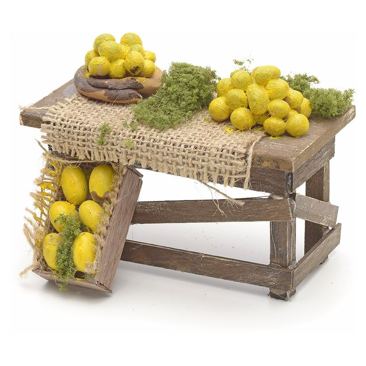 Mesa de limones pesebre Napolitano
