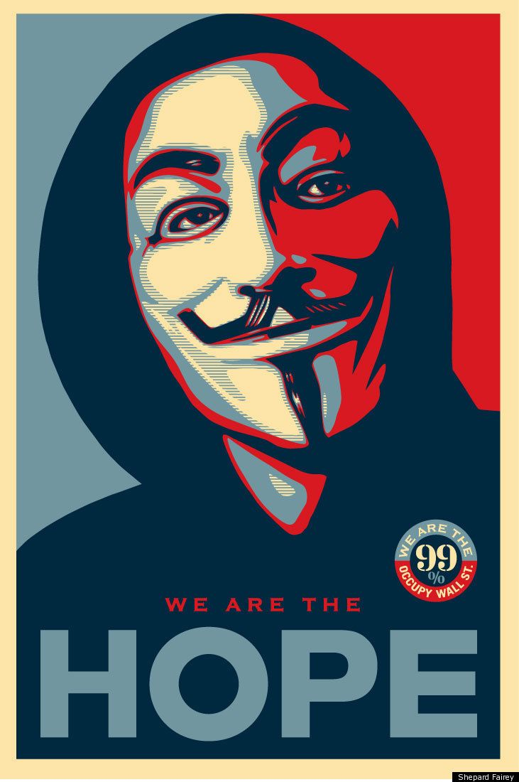 Shepard Fairey's OWS Poster: The Rise And Fall of Hope: