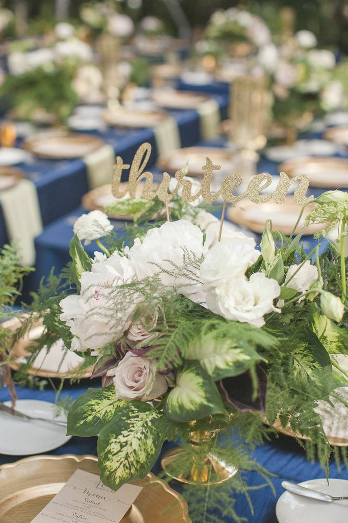 Photo: 1313 Photography - wedding centerpiece ideas, love the table number
