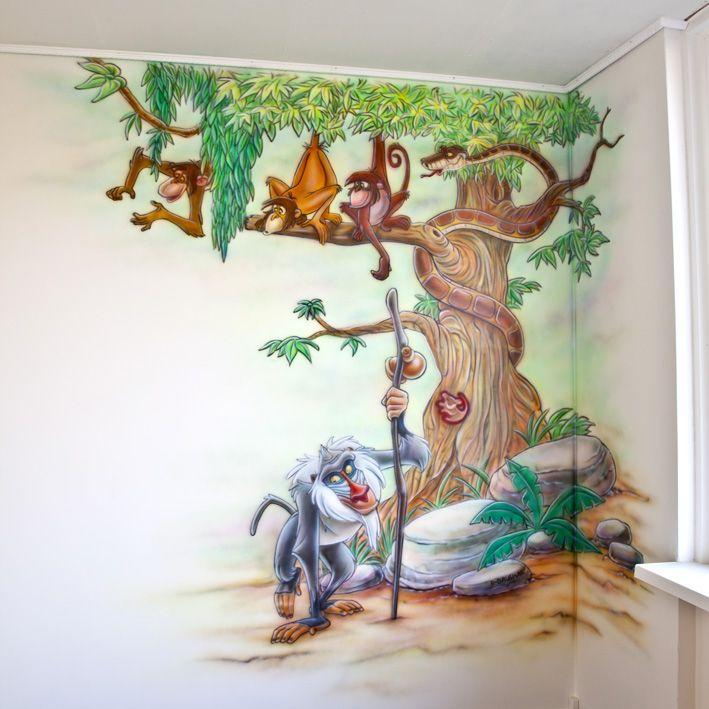 Jungle boom muurshildering