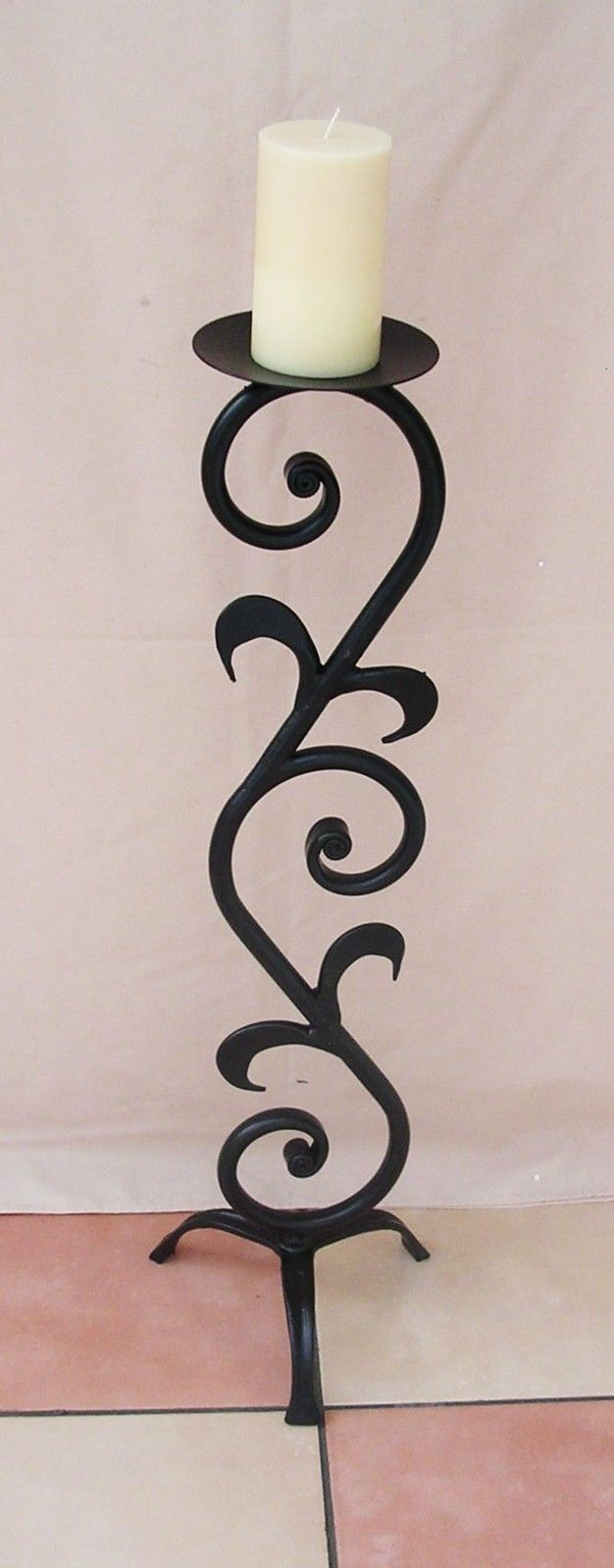 best  wrought iron candle holders ideas on pinterest  wrought  - wrought iron candle stick holder large hweight