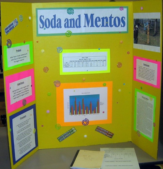 Soda science fair projects