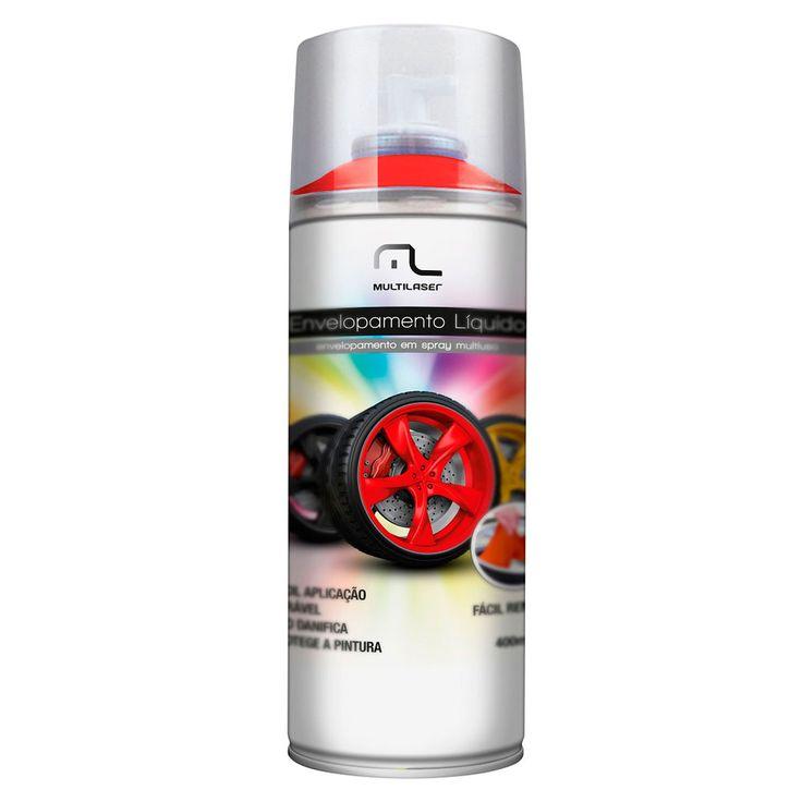 Spray de Envelopamento Líquido Multilaser 400 ml Vermelho Florescente - AutoParts Online
