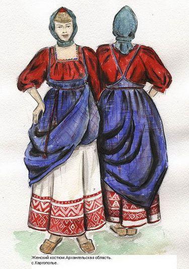 Русская женская рубаха
