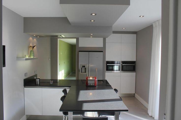 Faux plafond de pltre pour la dcoration de cuisine  cuisine en 2019  Pinterest  Plafond