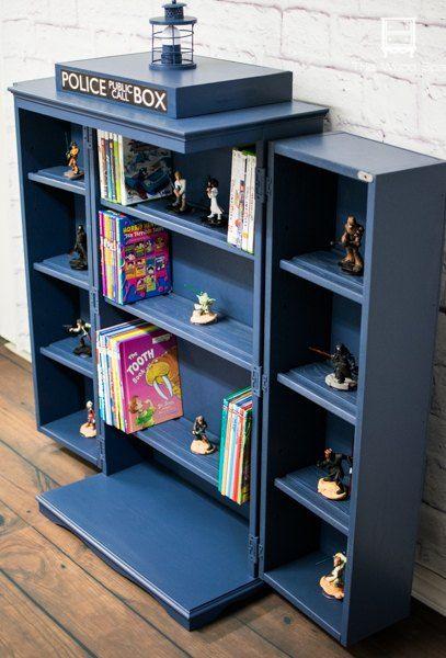 Awesome Tardis Boockcase/Media Storage   Tutorial