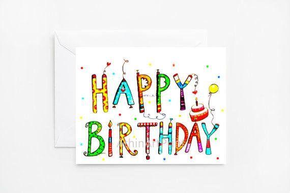 Birthday Card Printable Birthday Card Greeting Card Blank