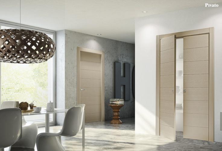 Porte interne in legno rovere sbiancato