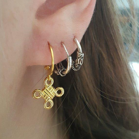 Gouden Oorbellen Met Knopen Etsy Diy Earrings Studs Earrings