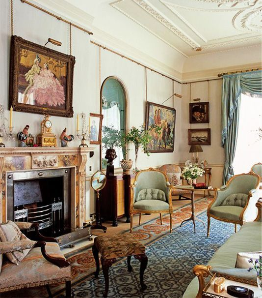 Clarence House ~ home of Prince Charles and decorated by Robert Kime