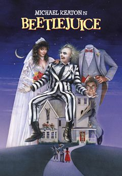 """What's a Yuppie ghost couple (Geena Davis and Alec Baldwin) to do when their quaint New England home is overrun by trendy New Yorkers?"" Starring: Michael Keaton, Geena Davis, Alec Baldwin, Annie McEnroe, Catherine O'Hara, Dick Cavett. Director: Tim Burton"
