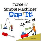 Freebie: Great vocabulary review game for Force and Simple Machines  Includes Word cards and Definition cards Each word matches one or more definition cards...